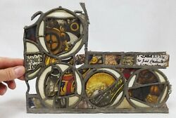 Early Antique Period Gothic Stained Glass Window Fragment Spectacular $1800.00