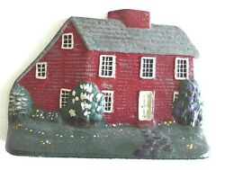 Very Rare original antique 1940's cast iron SaltBox House doorstop 7 14