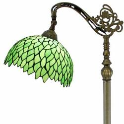 Vintage Style Reading Floor Lamp Green Wisteria Table Desk Arched Lighting H6... $247.97