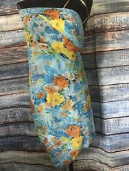Tropical Bathing Suit Cover Up Dress One Size $10.50