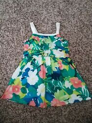 Gymboree SUNNY SAFARI Size 12-18m Dress Tropical Tier Flower Ruffle Summer Girls