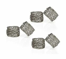 ITOS365 Handmade Round Mesh Napkin Rings Holder for Dinning Table Parties Eve...