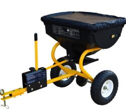 Large Tow Behind Broadcast Spreader Hopper Fertilizer Seed ATV Lawn Tractor Pull $119.70