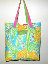 Estee Lauder Lilly Pulitzer Print Large Canvas Beach  Tote Bag Brand New $14.95