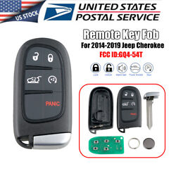 Replacement For 14-19 Jeep Cherokee Keyless Entry Remote Smart Key Fob GQ4-54T