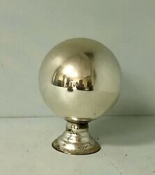 Antique Mercury Glass Gall on Stand-19th C Gazing Butler's ball on pedestal