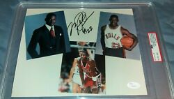 MICHAEL JORDAN AUTOGRAPH FROM ROOKIE YEAR WITH RARE #23 INSCRIPTION  PSAJSA COA