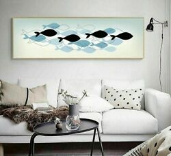Bedroom Wall Paintings Unframed Canvas Posters Abstract Art Long Pictures Decors $28.72