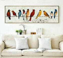 Modern Home Posters Wall Decorative Paintings Long Unframed Pictures Lovely Bird $64.63