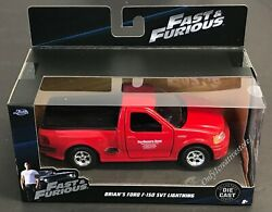 JADA Fast And Furious Brian's 1999 Ford F-150 SVT Lightning 1:32 Red Diecast Car