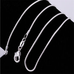 16-24'' USA Stock  925 Sterling Silver 2 mm Snake Chain  Necklace Jewelry