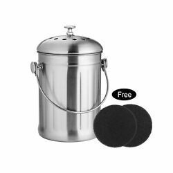 ENLOY Compost Bin Stainless Steel Indoor Compost Bucket for Kitchen Countert... $23.99