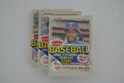1983 Fleer Baseball Sealed Cello Pack BOGGS SANDBERG GWYNN ROOKIE CARDS One Pack