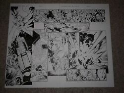 Bagley ULTIMATE END 5 pages 14 & 15 MARVEL HEROES VS THORS SPIDER-WOMAN SHE HULK