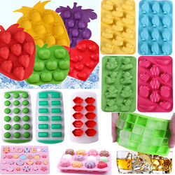 Silicone Rubber Ball Ice Cube Tray Freeze Bar Jelly Pudding Chocolate Mold Mould