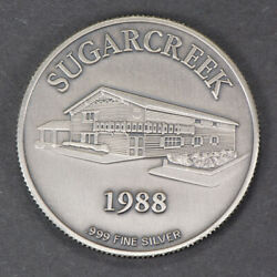 1 oz .999 FINE SILVER ROUND - THE COMMERCIAL & SAVINGS BANK SUGARCREEK - #M347 $25.00