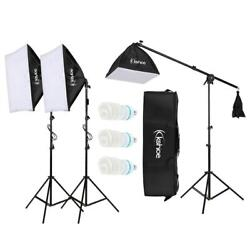 3 Softbox Light Stand Photo Studio Photography Continuous Lighting Kit $68.15