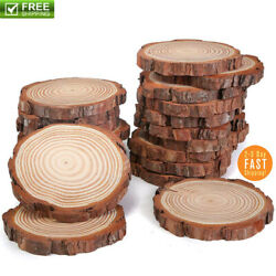 Natural Wood Slices 20 Pcs 3-4 Inch For Centerpieces Crafts Ornaments Wooden DIY