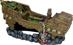 Blue Ribbon Pet Products-Exotic Environments Jumbo Shipwreck- Gray Jumbo