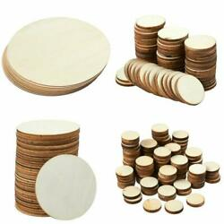 Unfinished Wood Circle Round Natural Rustic Wooden Cutout Home Decoration DIY