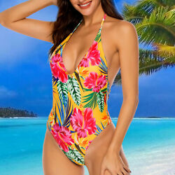 Women One Piece Monokini Push Up Padded Bikini Swimsuit Swimwear Bathing Suit $6.79