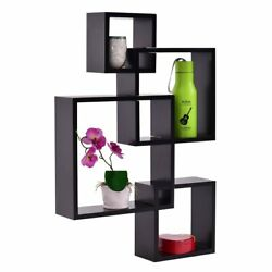 NEW Wooden Modern Storage Rack Wall Mounted Home Floating Shelf Organizer Decor $36.29