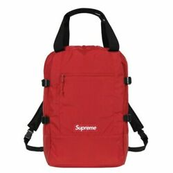 Supreme Tote Backpack Red Royal Box Logo New 2019 100% Authentic $285.00
