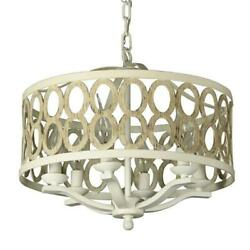 Canyon Home 6 Light Drum Chandelier Steel Frame $205.99