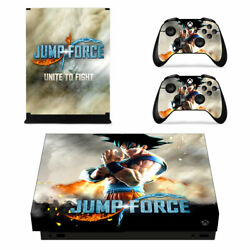 XBOX ONE X Skin Sticker Decal Cover JUMP FORCE DRAGON BALL NARUTO ONE PIECE 02
