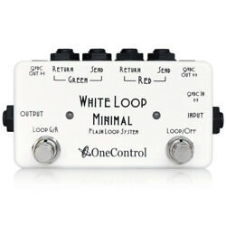 One Control Minimal Series White Loop Two Loop Line Selector Switching Pedal $75.00