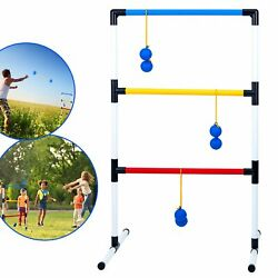 One Piece Ladder Ball Game Set Indoor and Outdoor Toss Games for Adults and Kids