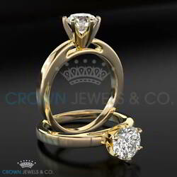 Diamond Engagement Ring 2.40 Carat Solitaire H SI2 Brilliant Cut Yellow Gold