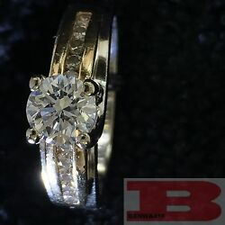 0.52 CT ROUND CUT G SI1 DIAMOND SOLITAIRE ENGAGEMENT RING 14K YELLOW GOLD