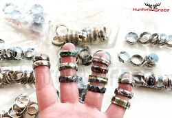 *BEAUTIFUL LOT OF 100* DAMASCUS CUSTOM HANDMADE RINGS *LIMITED* SIZE 7 TO 12.5