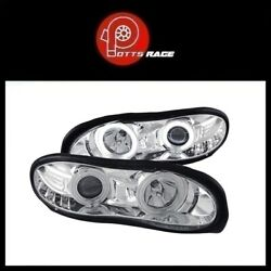 Anzo Chrome CCFL Halo Projector Headlights Parking LEDs Fits Chevy Camaro 98-02