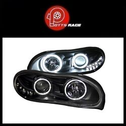 Anzo Black CCFL Halo Projector Headlights w Parking LEDs Fits Chevy Camaro 98-02