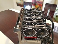 Crypto Mining Rig 6 MSI Radeon RX 570 GDDR5 8GB Armor OC Edition Graphics Card