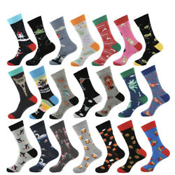 Mens Combed Cotton Socks Warm Novelty Animals Cartoon Funny Dress Socks For Gift $3.26