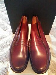 Sebago Men's Classic Leather Loafer hand sewn 16 D antique Brown Classic