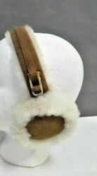 Ugg Australia Women's Double U-Logo Shearling Leather Earmuffs $75 NIB
