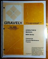 Gravely 8000 Series 8126 8127 8166 8167 8177 Commercial Tractor Operator Manual