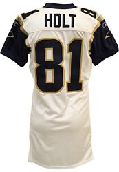 2007 Torry Holt Game Worn St. Louis Rams Jersey Grey Flannel LOA