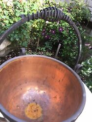 OLD ANTIQUE ARTS CRAFTS WROUGHT IRON  Copper  Brass .