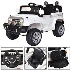 12V Kids Ride On Car Battery Power Wheels Truck Remote Control W MP3 White $149.99