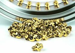 Woowin 50 Pcs Wheel Rim Bolt Spike Lip Rivets T01 T03 T04 for Wheel Rim (Gold)