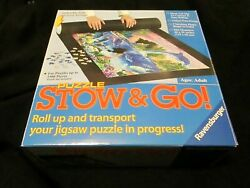 Ravensburger Stow and Go Black Felt Mat Jigsaw Puzzle Saver Roll UP NEW