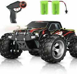 DOUBLE E RC Car 4WD High Speed Monster Trucks Upgraded 2 Batteries Red $71.18