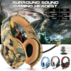 ONIKUMA K1 Stereo Bass Surround Gaming Headset for PS4 Pro Xbox One PC Mic US