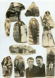 AA138 Vtg Photo LOT OF CUT-OUTS c Early 1900's