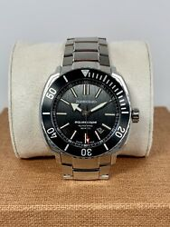 Jean Richard Aquascope Awesome Black Dial New Unworn Great Diver...